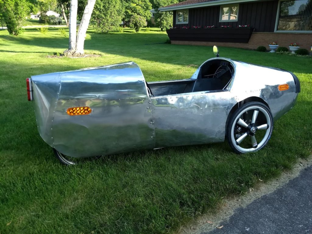 the velomobile has its body panels